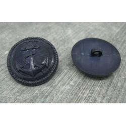 Bouton ancre marine 27mm
