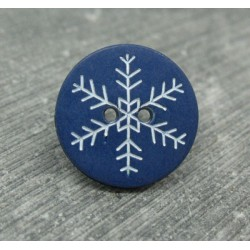 Bouton flocon de neige marin 18mm