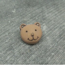 Bouton ours brun 14mm