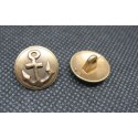 Bouton ancre relief vieil or 15mm