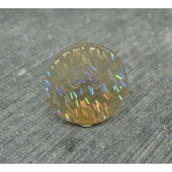 Bouton paillette translucide ocre 18mm