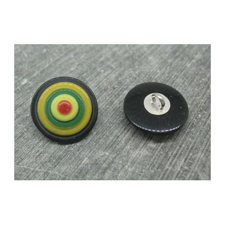 Bouton cible noir 18mm