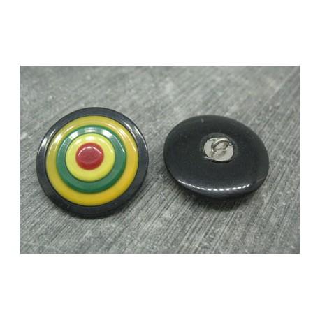 Bouton cible noir 25mm