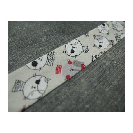 Biais plié 9mm fini N°35 coton