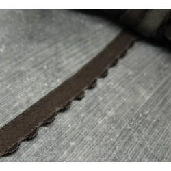 Elastique fantaisie marron 10mm