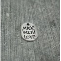 Charm made with love  11mm