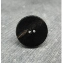 Bouton corne anthracite  23mm