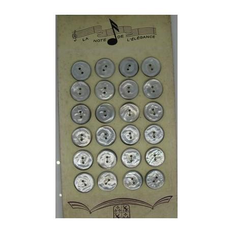 Plaque N°35 24 boutons tahiti veine 18mm