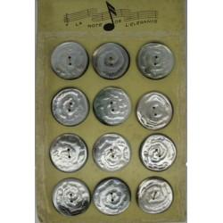 Plaque N°37 12 boutons tahiti veine 31mm