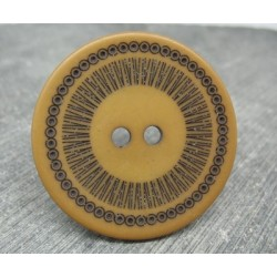 Bouton roulette caramel  44mm