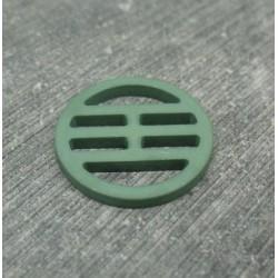 Bouton plaque verte 23mm