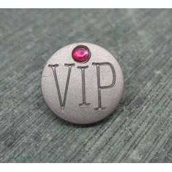 Bouton VIP gris rosé 15mm