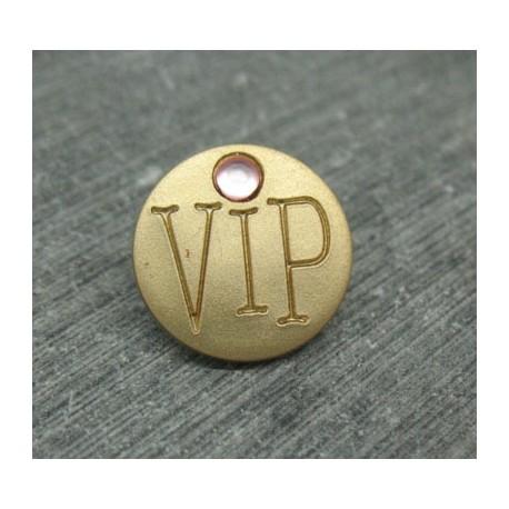 Bouton VIP doré 15mm