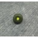 Bouton oeil kaki jaune 10mm