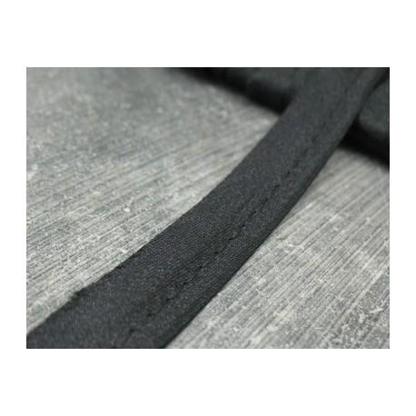 Passepoil satin noir 13mm