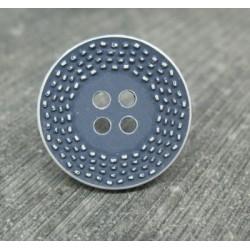 Bouton pointillé délavé bleu jean 20mm