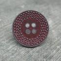 Bouton pointillé délavé lie de vin 20mm