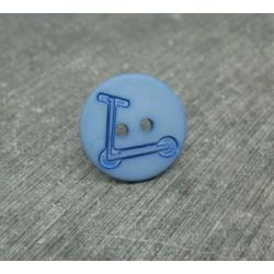 Bouton trotinette bleu bleu 18mm