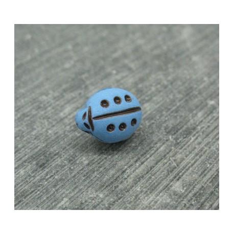 Bouton coccinelle bleu 11mm