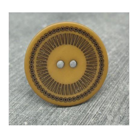 Bouton roulette caramel 34mm