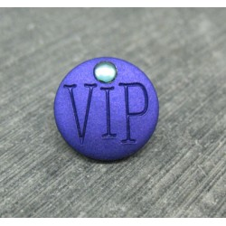 Bouton VIP violet 15mm