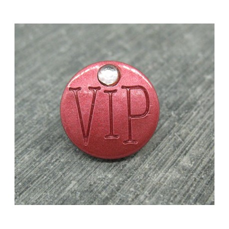 Bouton VIP corail 15mm