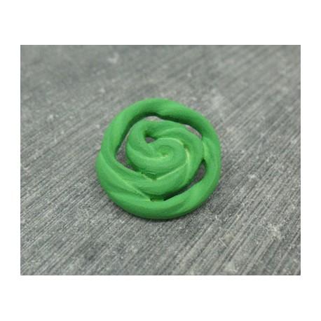 Bouton rose vert 22mm