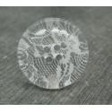 Bouton translucide dentelle tulle blanche 34mm