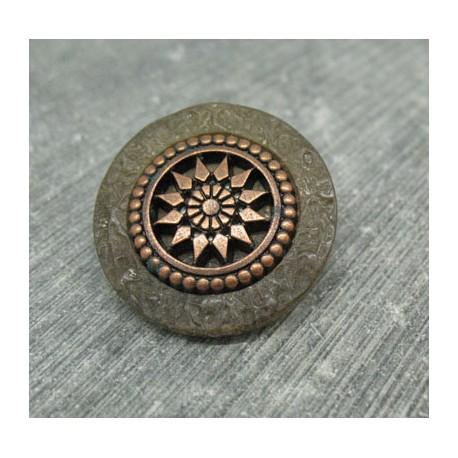 Bouton roue antique kaki 27mm