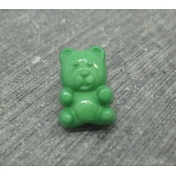 Bouton ours vert 15mm