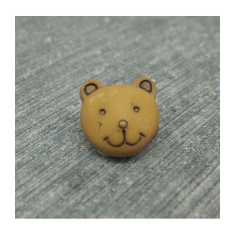 Bouton ours caramel 11mm