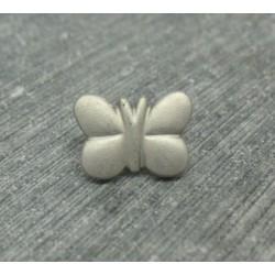 Bouton papillon gris argent 15mm
