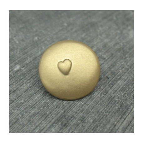 Bouton coeur relief or 18mm