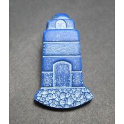 Bouton phare bleu blanc b20