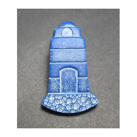 Bouton phare bleu blanc 27mm