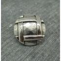 Bouton métal tresse martelée 18mm