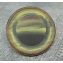 Bouton imitation corne jaune noir 45mm