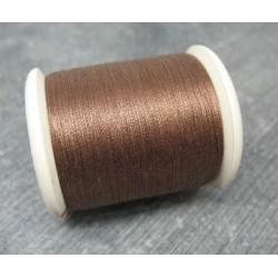Bobine coton 250m Prima marron clair