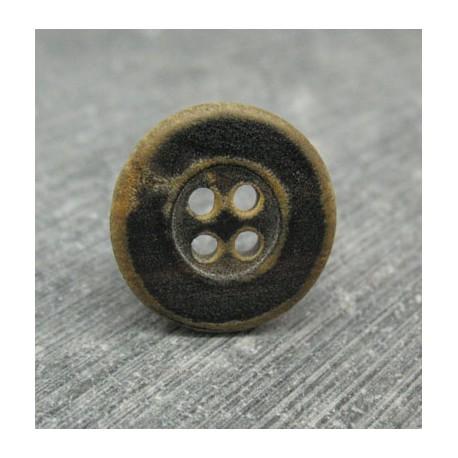 Bouton corne noir 18mm
