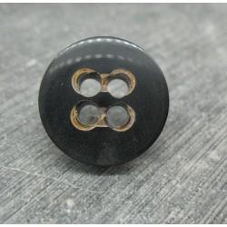 Bouton corne noir 20mm 4t