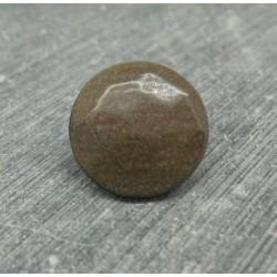 Bouton corne marron 18mm 1 pied biseauté