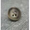 Bouton imitation corne beige 15mm