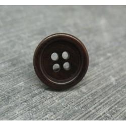 Bouton ivoire végétal marron 15mm
