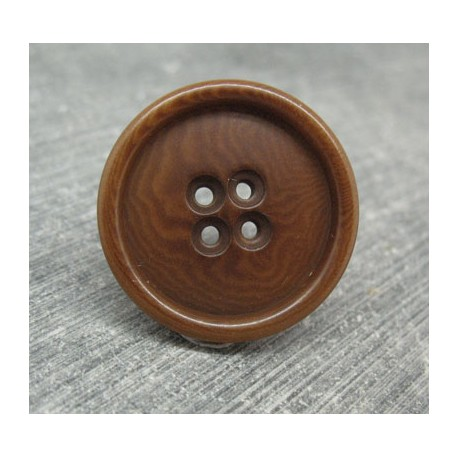 Bouton ivoire végétal chocolat 27mm