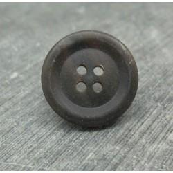 Bouton corne noir 21mm