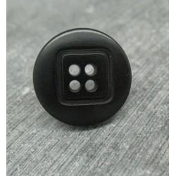 Bouton ivoire végétal noir 20mm motif carré