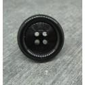 Bouton résine noir brillant 23mm