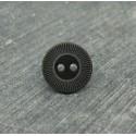 Bouton roue noir/vieil or 13mm