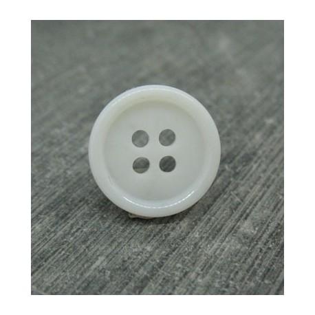 Bouton 3 résine blanc 15mm