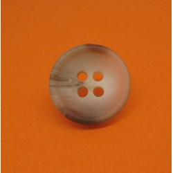 Bouton 8 imitation corne roue beige 18mm